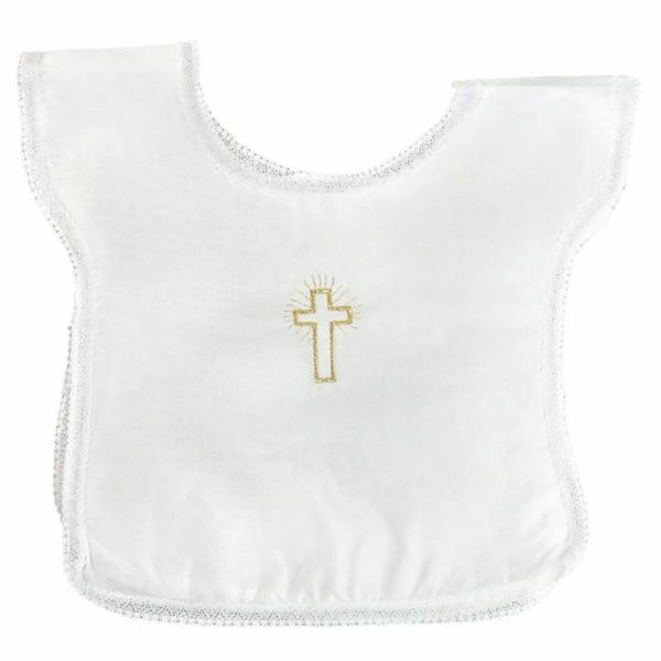 Picture of Baptism Infant Tunic baby boy baby girl embroidered Cross Cotton White Baptism Cloth Dress