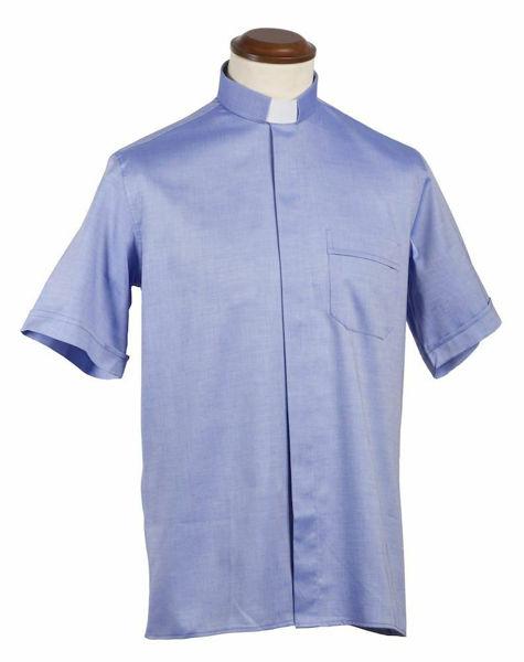 Picture of Tab-Collar Clergy Shirt short sleeve Piquet Cotton Felisi 1911 Light blue White Blue Celestial Light Grey Dark Grey Black