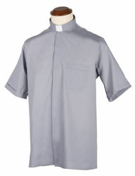 Picture of Tab-Collar Clergy Shirt short sleeve Cotton blend Felisi 1911 White Blue Celestial Light Grey Medium Grey Dark Grey Black