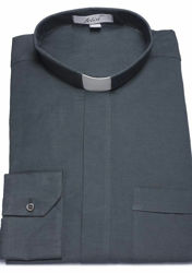 Picture of Tab-Collar Clergy Shirt long sleeve Cotton and Linen Felisi 1911 White Celestial Blue Light Grey Dark Grey Black