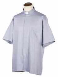 Picture of Tab-Collar Clergy Shirt short sleeve pure Cotton Felisi 1911 Light Grey Dark Grey Black
