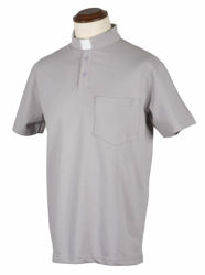 Picture of Tab-Collar Clergy Polo Shirt short sleeve Piquet Cotton Felisi 1911 Blue Light Grey Dark Grey Black