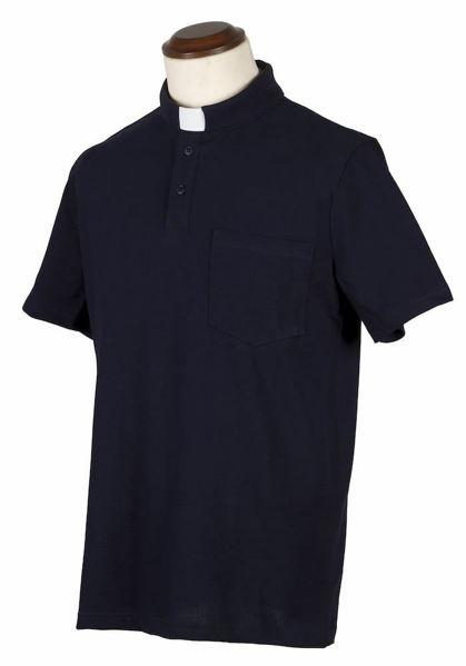 Immagine di Polo Collo Clergy Collarino manica corta puro Cotone Jersey Felisi 1911 Blu Grigio Chiaro Grigio Scuro Nero