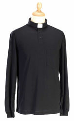 Picture of Tab-Collar Clergy Polo Shirt long sleeve Piquet Cotton Felisi 1911 Blue Light Grey Dark Grey Black