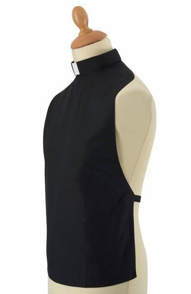 Picture of Plain Front Rabat Shirt for Cassock Clergy Tab-Collar Cotton blend Felisi 1911 Black