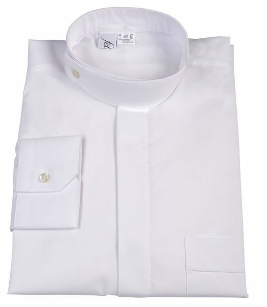 Picture of Clergy Shirt for Cassock Orthodox Collar Cotton blend Felisi 1911 White Black