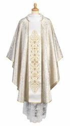 Picture of Liturgical Chasuble Lampas embroidered Stole Polyester Red Violet Green Flag White Felisi 1911