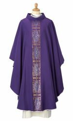 Picture of Liturgical Chasuble Cross Wool blend Violet Felisi 1911