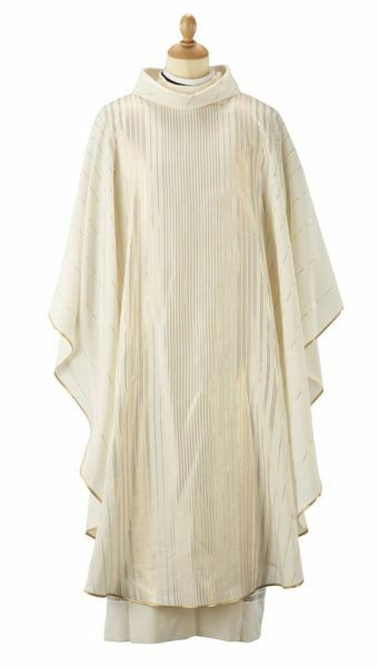 Picture of Liturgical Chasuble shaded effect Wool blend Lurex Ivory Felisi 1911