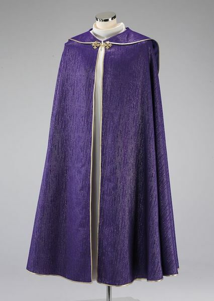 Picture of Clergy Cope Pluviale Galloon Wool blend Red Olive Green Violet Ivory Felisi 1911