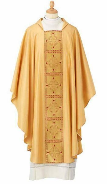 Picture of Liturgical Chasuble gold Stole Wool blend Yellow Gold Felisi 1911