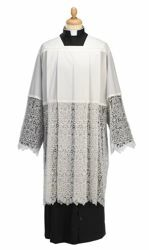 Picture of Liturgical Surplice fillet dot macramè lace Cotton blend Felisi 1911 White