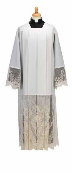Immagine di Cotta liturgica collo romano marquisette misto Cotone Felisi 1911 Bianco