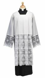 Picture of Liturgical Surplice macramè lace Wool blend Felisi 1911 White