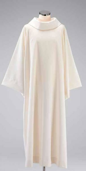 Picture of Benedictine Alb Cotton blend priestly Tunic Felisi 1911 Ivory