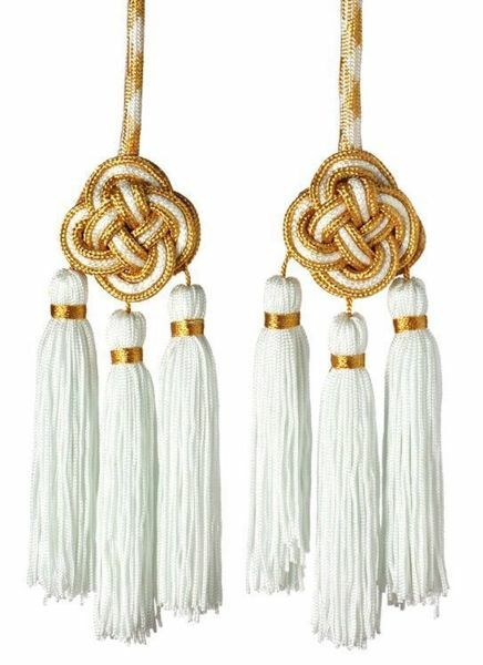 Picture of Cincture 3 Tripolin Knot Tassels Cotton blend Felisi 1911 Red Celestial Violet Green Flag White Gold/Pink