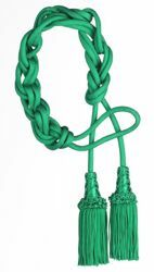 Picture of Tripolin Cincture 2 Tassels Cotton blend Felisi 1911 Red Violet Green Flag Ivory Black White