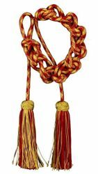 Picture of Cincture Solomon knot Gold/color Tassel Acetate Felisi 1911 Red Violet Green Flag White Pink