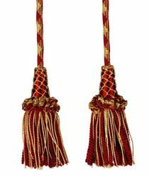 Picture of Cincture gold viscose 2 Tassels Acetate Viscose Felisi 1911 Red Violet Green Flag White
