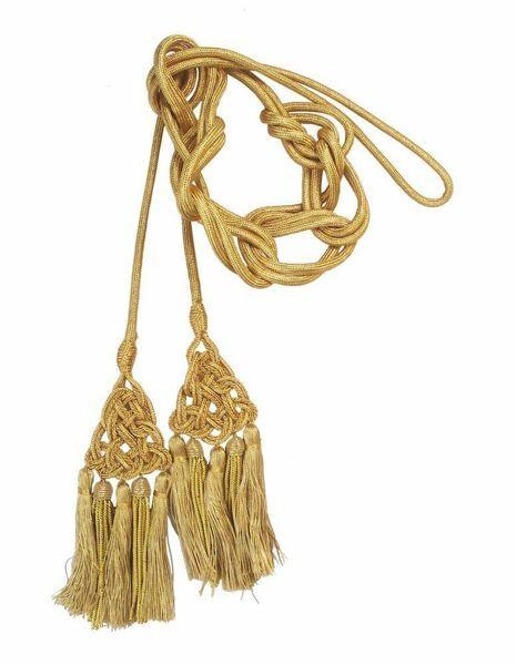 Imagen de Cíngulo de Canutilho cordón Borlas pequeñas Viscosa Felisi 1911 Oro