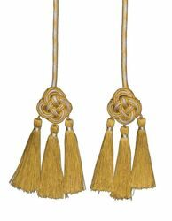 Picture of Cincture gold and silver 3 small Tassels Viscose Felisi 1911 Gold
