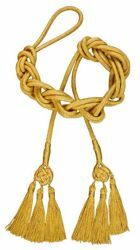 Picture of Celtic Knot Cincture Gold 3 small Tassels Cotton blend Felisi 1911 Gold