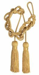 Picture of Sphere Knot Cincture Tripolin Knot Tassel Cotton blend Felisi 1911 Gold