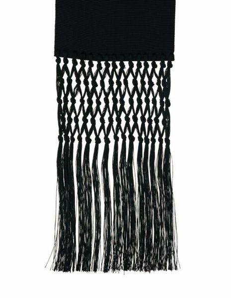 Picture of Ecclesiastical Fascia Sash for Cassock H. cm 15 (5,9 inch) Fringes Pure Silk Felisi 1911 Silk Purple Black Band Cincture