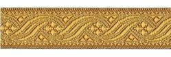 Picture of Galloon antique Gold for furniture H. cm 2,6 (1,0 inch) Polyester and Acetate Fabric Brown Yellow Trim Orphrey Banding for liturgical Vestments
