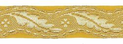 Picture of Galloon Column H. cm 3 (1,2 inch) Metallic thread Fabric high content of Gold Trim Orphrey Banding for liturgical Vestments
