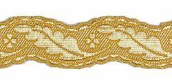 Imagen de Galón Columna H. cm 4 (1,6 inch) Tejido en hilo metálico alto contenido Oro para Vestiduras litúrgicas