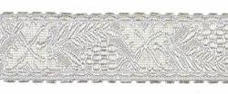 Imagen de Galón Uva Trigo plata H. cm 3 (1,2 inch) Tejido en hilo metálico alto contenido Plata para Vestiduras litúrgicas