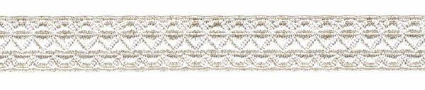 Imagen de Galón greca plata H. cm 1,5 (0,6 inch) Tejido mezcla Algodón para Vestiduras litúrgicas