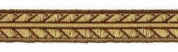 Imagen de Galón oro antiguo Palmeras H. cm 2 (0,8 inch) Tejido Poliéster Acetato Marrón para Vestiduras litúrgicas