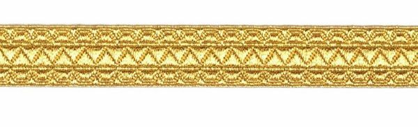 Picture of Galloon gold Meander H. cm 1,5 (0,6 inch) Cotton blend Fabric Trim Orphrey Banding for liturgical Vestments