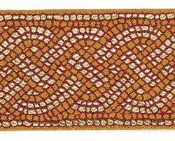Immagine di Gallone antico Mosaico H. cm 9 (3,5 inch) Poliestere Acetato Tessuto per Paramenti liturgici