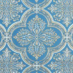 Immagine di Lampasso bizantino classico H. cm 160 (63 inch) Lurex Rosso Celeste Verde Giallo Oro Viola Verde Bianco Argento Tessuto per Paramenti liturgici