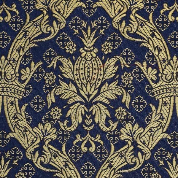 Imagen de Brocado Real oro H. cm 160 (63 inch) Tejido Poliéster Acetato Blanco Rosa Noche Azul Marfil/Burdeos Blanco/Rosa/Oro Antiguo para Vestiduras litúrgicas