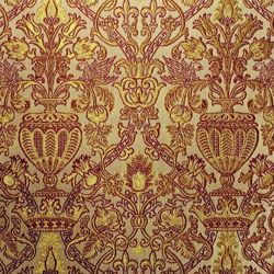 Picture of Brocade Amphora H. cm 160 (63 inch) Polyester Acetate Fabric Ivory Bordeaux for liturgical Vestments