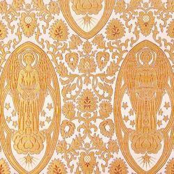 Picture of Brocade Angels H. cm 160 (63 inch) Polyester Acetate Fabric Yellow Gold White for liturgical Vestments