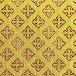 Picture of Drape Crosses Rhombs H. cm 160 (63 inch) Yellow Gold Polyester Viscose Fabric for liturgical Vestments