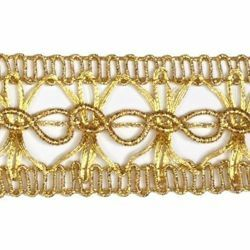 Picture of Agremano Braided Trim gold Vergolina H. cm 3 (1,2 inch) Viscose Polyester Border Edge Trimming for liturgical Vestments