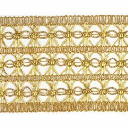 Picture of Agremano Braided Trim gold Vergolina H. cm 8 (3,1 inch) Viscose Polyester Border Edge Trimming for liturgical Vestments