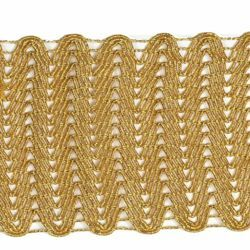 Picture of Agremano Braided Trim gold H. cm 8 (3,1 inch) Viscose Polyester Border Edge Trimming for liturgical Vestments