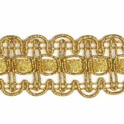 Picture of Agremano Braided Trim classic gold liserè H. cm 2,5 (0,98 inch) Viscose Polyester Border Edge Trimming for liturgical Vestments