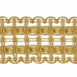 Picture of Agremano Braided Trim classic gold liserè H. cm 4 (1,6 inch) Viscose Polyester Border Edge Trimming for liturgical Vestments