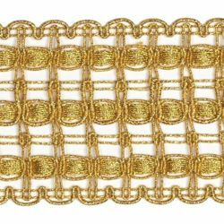 Picture of Agremano Braided Trim classic gold liserè H. cm 6,5 (2,56 inch) Viscose Polyester Border Edge Trimming for liturgical Vestments