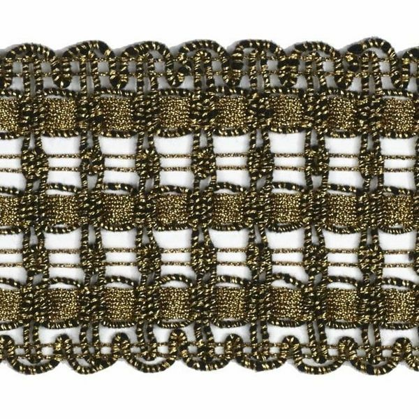 Picture of Agremano Braided Trim antique gold liserè H. cm 6,5 (2,56 inch) Viscose Polyester Border Edge Trimming for liturgical Vestments