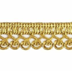 Picture of Agremano Braided Trim Classic gold spiral H. cm 2 (0,79 inch) Viscose Polyester Border Edge Trimming for liturgical Vestments