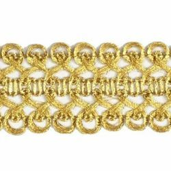 Picture of Agremano Braided Trim Classic gold spiral H. cm 3 (1,2 inch) Viscose Polyester Border Edge Trimming for liturgical Vestments